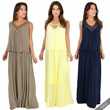 Viscose Patternless Maxi Dresses for Women
