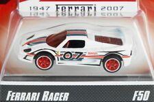 HOT WHEELS 2007 FERRARI RACER #19 - F50 - WHITE #07