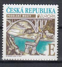 CZECH REPUBLIC 2018 EUROPA CEPT BRIDGES 1 ST MNH