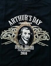 GUINNESS T shirt Arthur's day Dublin Ireland 2010 rare sz S black