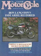 Sunbeam 1947 S7  Ariel Trials Norton vs Motosacoche 11/1986