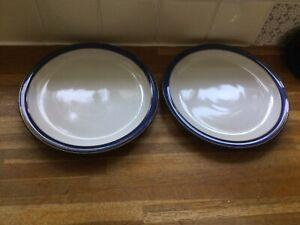 Denby - Imperial Blue- Dessert/Salad Plates X2.