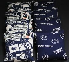 Penn State Lions 8 Cornhole Bean Bags Blue & White Tailgate Game Aca Regulation
