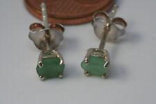 Smaragd Ohrstecker 925 Silber(Oval, fac.6x8x2 mm) L-0305/L