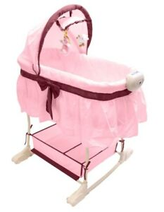 Best For Kids Stubenwagen Babywiege Beistellbett Musik Vibration Baby Wiege Rosa