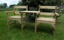 Garden Seat/Bench COMPANION SEAT/ LOVE SEAT 2 seats and a detachable table