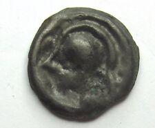 SENONS - Potin à la tête casquée - Ier siècle AC .