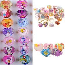 10Pcs Wholesale Mixed Lots Cute Cartoon Children Kids Resin Rings Jewelry Cute