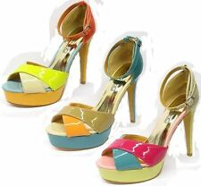 Spot on Women's Synthetic Strappy, Ankle Straps Slim Shoes