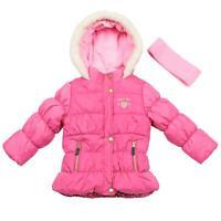 OshKosh B'gosh Girls Taffeta Bubble Puffer Jacket Coat with Headband Toddler 2T