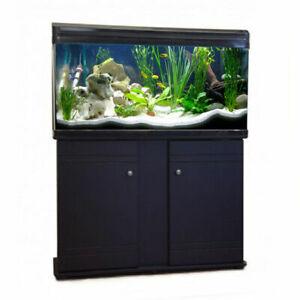 Aquarium Fish Tank & Cabinet Freshwater Tropical Filter LED Lighting 120cm 220L