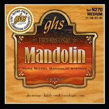 More details for ghs n270 pure nickel mandolin strings: medium gauge 11-41 loop end