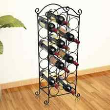 vidaXL Wine Rack for 21 Bottles Metal Display Holder Storage Cabinet Shelf