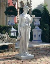 "Ancient Greek Goddess of Youth Large 62"" Garden Statue By Bertel Thorwaldsen"