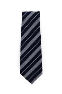$295 Kiton Blue Striped Wool Tie -  x  - (1261)