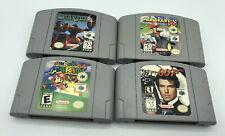 Nintendo 64 (N64) 4 Game Lot Mario Kart 64, Super Mario, Goldeneye 007, Starfox