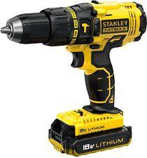 Stanley FatMax Cordless 18V 2Ah Li-Ion Brushed Combi Drill 2 Batteries