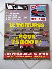 L'Auto-Journal 1986 n°21 Rover 820 Si Santana S410 Y10 Fiat Uno Turbo IE R9 TXE