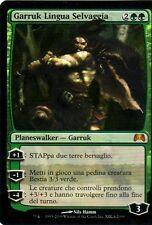 MTG MAGIC PROMO Garruk Lingua Selvaggia - Garruk Wildspeaker ITA FOIL