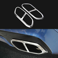 2*For Volvo XC60 2018 Car Rear Back Exhaust End Pipe Cover Trim Stainelss Steel