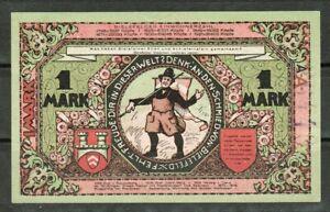 GERMANY NOTGELD 1 MARK STADT-BIELEFELD 1921