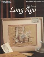 Paula Vaughan LONG AGO Book 20 Leisure Arts 683 Counted Cross Stitch 1988