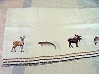 "NEW Wilderness Animals VALANCE CURTAIN 58"" X 12"" BEAR MOOSE DEER Lodge Decor"