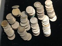 "Liberty Head ""V"" Nickels 100 Lot of Vintage US Coins in About Good or Better"