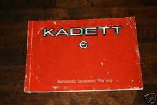 Operating Instructions Opel Kadett D