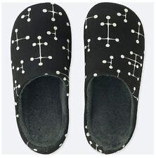 299dabfa897616 Brand New UNIQLO SPRZ NY Eames Black White Dot Room Shoes Slippers Size M