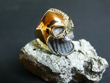 Gecko Salamander Edelstahl Ring 8 oder 19 gold silber oder silber 18
