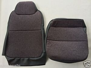 "ISUZU NPR/GMC W-SERIES DRIVER-BACKREST AND BOTTOM SET- MORDURA-STEEL""GRAY"""