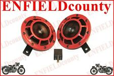 HELLA 12V RED GRILL SUPER TONE CAR HORN SET PAIR 500/300HZ WITH RELAY @AUD