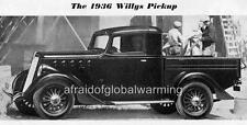 Old Print.  1936 Willys Pickup Truck