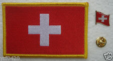 Switzerland National Flag Pin and Patch Embroidery