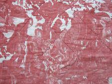 Antique French Toile de  Beautiran pelmet fabric 18th century
