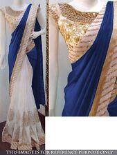 Bollywood Indian Ethnic Saree Pakistani Designer Sari Wedding Party Wear Saree