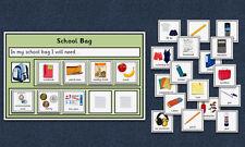 School Bag Organiser - Now / Next / Later - Autism / Speech and Language / PECS