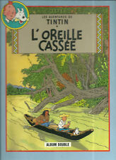 BD DOUBLE - TINTIN : L' OREILLE CASSEE + COKE EN STOCK / MILOU HERGE