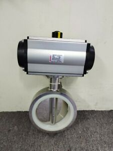 POV Butterfly Valve Wafer 6in Stainless Steel Body Silicone Seat DA Actuator