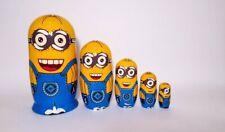 Russian Nesting Dolls Matreshka Minions Beautiful Set for Kids! 5 pieces