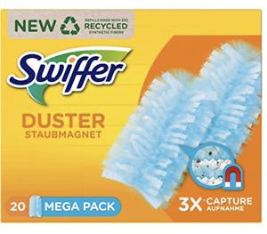 Swiffer Staubmagnet Tücher Nachfüllpack, 20 Stück Duster Staub Allergiker