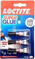 Loctite Super Glue Power Flex Mini Trio Set Universal Instant Adhesive (3 x 1g)