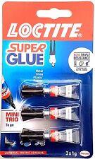 Loctite Super Glue Power Flex Mini Trio Set Adhesivo Instantáneo Universal (3 X 1g)