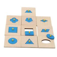 Montessori Materials Insets Shape Puzzles Toddler Preschool Toys LJ