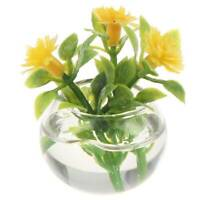 HOT 1:12 Dollhouse Miniature Green Potted For Home Decor Simulation Potted Plant