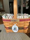 Longaberger 1999 Bee Basket-Liner-Protector-Tie On with 2 Family Signatures