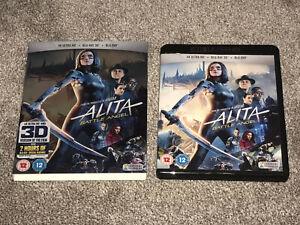 ALITA - BATTLE ANGEL : 4K ULTRA HD + 3D BLU RAY + BLU RAY SET - VGC (FREE UK P&P