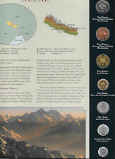 Coins from Around the World Nepal 1996 - 1997 BU UNC 10, 5 Rupees 1997 1 Rp 1996