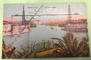 Marseille Pont Transbordeur Postcard Vintage